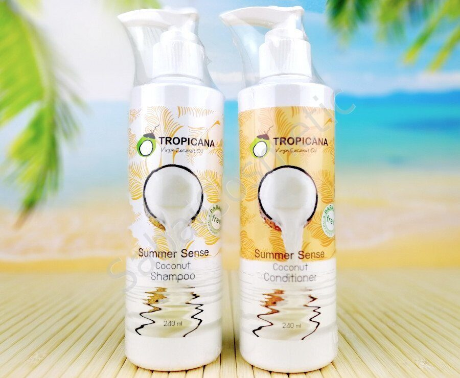 Tropicana Virgin Coconut Oil Summer Sense Shampoo & Conditioner