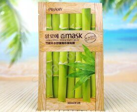 Тканевая маска для кожи лица с экстрактом бамбука Pibamy Bamboo Mask, 30ml