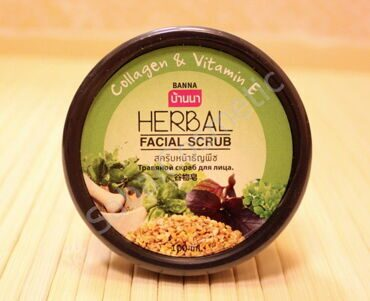 "Скраб для лица Хербал ""Тайские травы"" с коллагеном и витамином Е Banna Herbal Collagen & vitamin E Facial Scrub, 100ml"