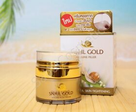 Крем для лица со слизью улитки Bm.B Snail Gold Volume Filler Anti-Aging & Skin Tightening, 15ml