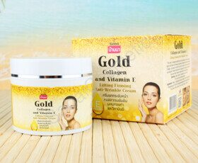 Крем для лица с золотом и коллагеном Banna Gold Collagen and Vitamin E Lifting Firming Anti-Wrinkle Cream, 100 ml