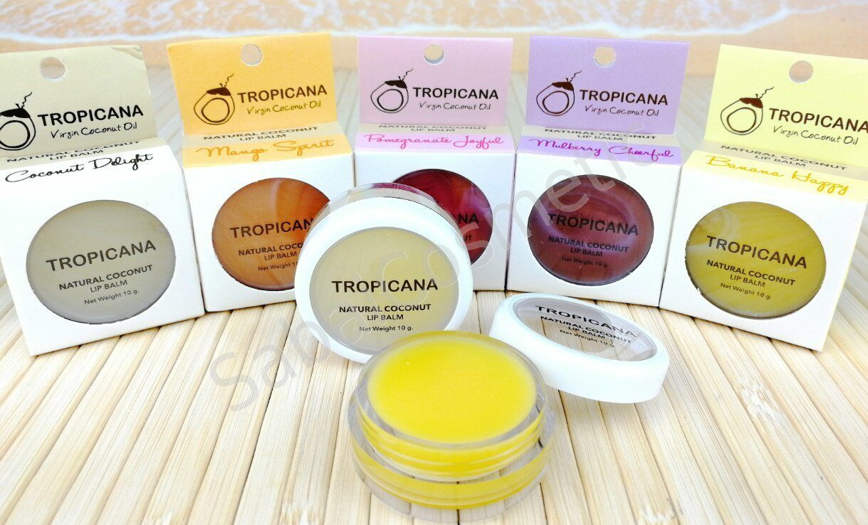 tropicana oil natural coconut lip balm