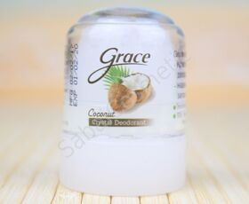 "Квасцовый мини дезодорант-кристалл ""Кокос"" Grace Coconut Crystal Deodorant, 40g"
