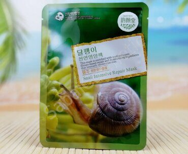 Тканевая маска 3D с секрецией улитки Snail Intensive Repair Mask East-Skin, 38ml